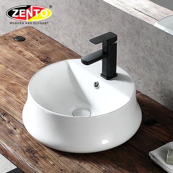 Chậu lavabo đặt bàn Zento LV1183A (440x440x165mm)