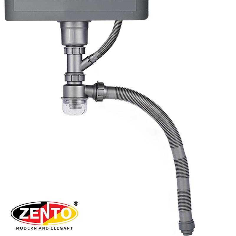 Bộ xi phông ống xả chậu rửa bát 1 hố cao cấp XP317-new