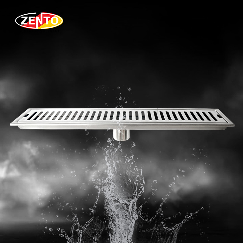 Ga thoát sàn inox304 Zento ZT451-50 (100x500mm)